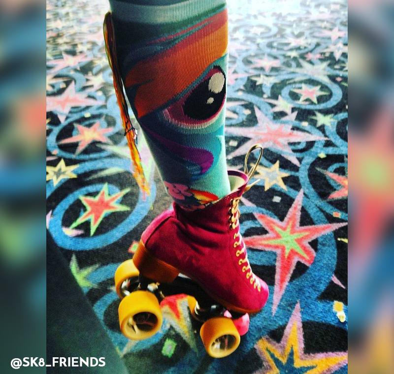 Rainbow Knee-high Pattern Socks
