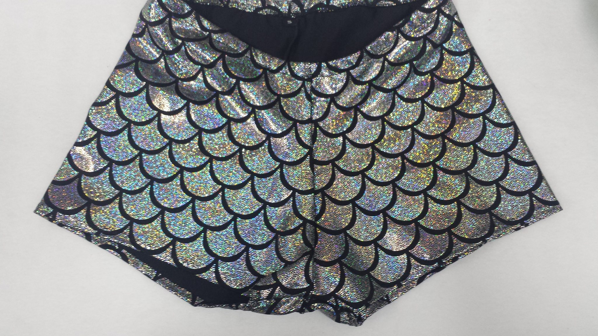Jumbo Mermaid Short and Sweet roller derby style shorts, made to order