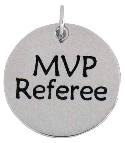 MVP Referee Stainless Steel Charm