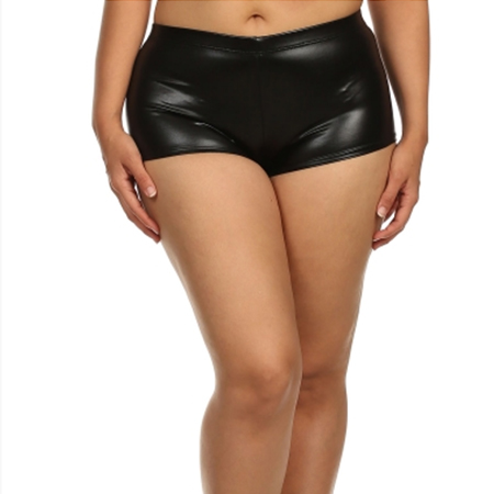 Faux Leather Booty Shorts