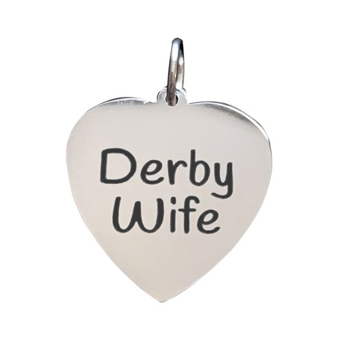 Roller Derby Wife Stainless Steel Charm