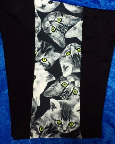 "Not So Short and Sweet 5″ inseam side prints ""Kitty"" selection"