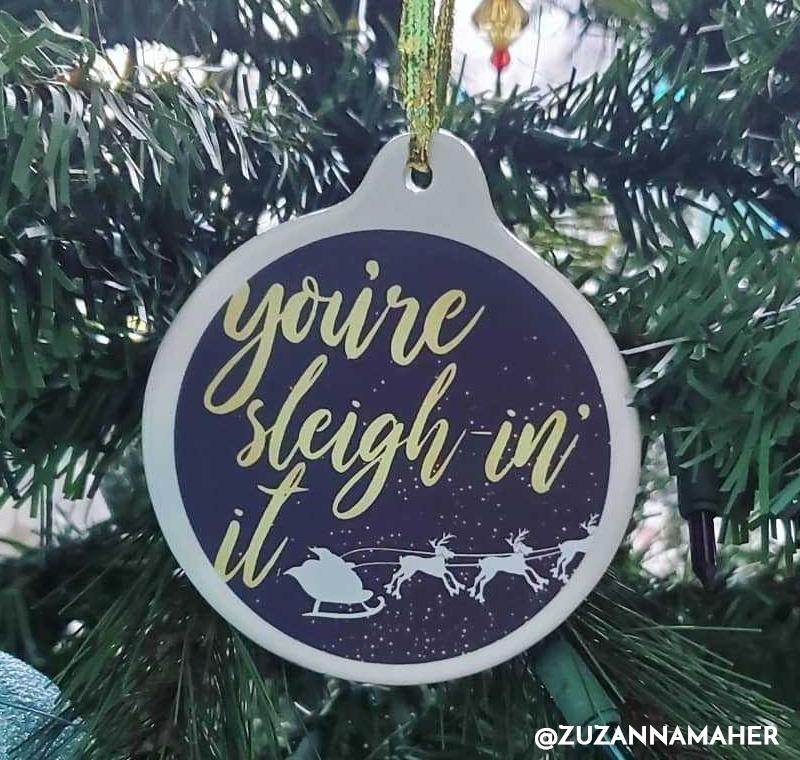 Sleighin' It Ornament