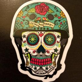 Derby de los Muertos - Roller Derby Skate Sugar Skull