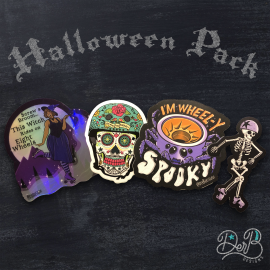 four stickers in the Halloween Sticker Pack