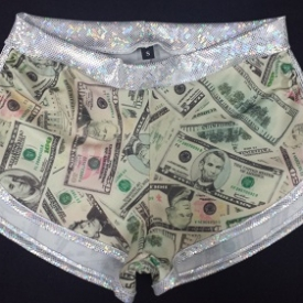 Show Me the Money! Sassmasters roller derby style shorts, made to order