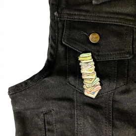 Stacked Books Pin
