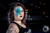 Roller derby makeup: Glitter edition