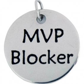 MVP Blocker Stainless Steel Charm