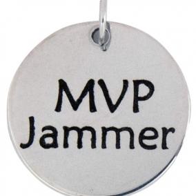 MVP Jammer Stainless Steel Charm