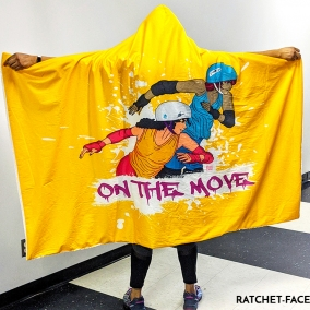"""On The Move"" Hoodie Blanket"