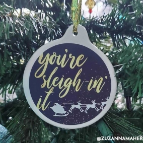 """Sleighin' It"" Ornament"
