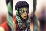 Roller derby makeup: beautiful & scary