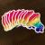 Roller Skate Love – Rainbow PRIDE Sticker